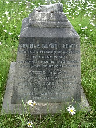 G. A. Henty - Funerary monument, Brompton Cemetery, London