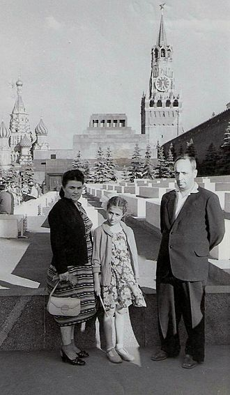 Grigory Sarkisovich Grigoryants - Rare vacation time: G.S. Grigoryants with wife and daughter in Moscow, circa. 1960.