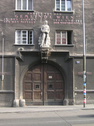 Gemeindebau - The Gall-Hof on the Döblinger Gürtel, in the District Alsergrund.