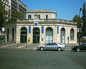 Chemins de fer de l'Ouest - Courcelles-Levallois station now part of Paris' RER C line but originally part of La Ligne d'Auteuil.