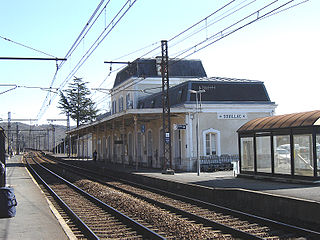 railway station in Souillac, France