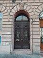 Gate. - II. János Pál pápa Square 2, 2016 Budapest.jpg
