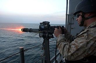 Minigun - FAST Marine firing a GAUSE-17/A minigun