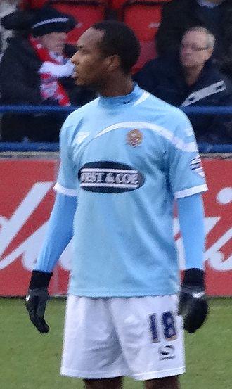Gavin Hoyte - Hoyte playing for Dagenham & Redbridge in 2014