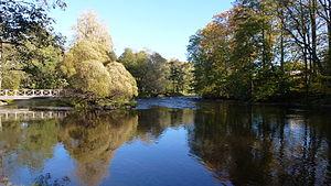 Gävle - Gävle park with the river Gavleån