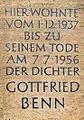 Gedenktafel Bozener Str 20 (Schönb) Gottfried Benn.JPG