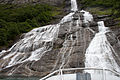 Geiranger fjord, at the base of the Suitor waterfall.jpg