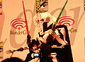 Gen. Grievous cosplayer at WonderCon 2010 Masquerade 1.JPG