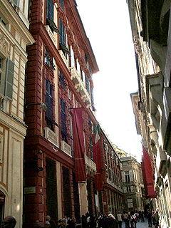 Reinassance street in Genoa