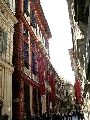 Palazzo Rosso, en af paladserne på Via Garibaldi