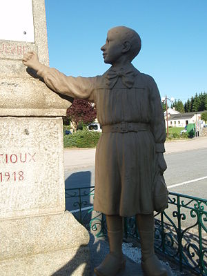 Creuse - Famous pacifist World War I memorial in Gentioux