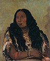 George Catlin - Tchón-su-móns-ka, Sand Bar, Wife of the Trader François Chardon - 1985.66.89 - Smithsonian American Art Museum.jpg