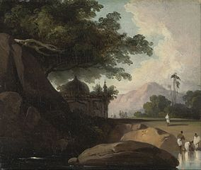 Indian Landscape with Temple