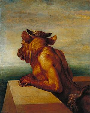 Arianna in Creta - George Frederic Watts - The Minotaur