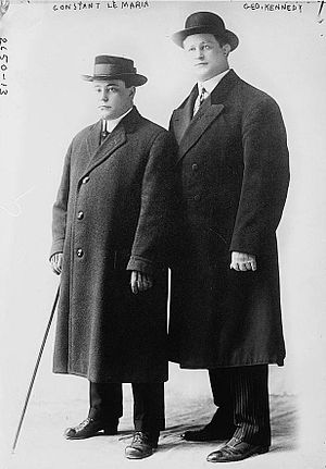 George Kennedy (sports promoter) - Kendall (on the left) with a Belgian wrestler Constant Le Marin in ca. 1910.