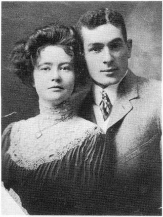 George Herriman - George and Mabel Herriman on their wedding day (July 7, 1902)