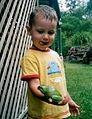 George with his favourite green frog - panoramio.jpg