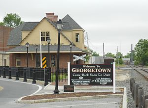 Georgetown, Delaware - Georgetown's historic railroad station