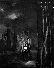 Returned Family in a Moonlit Square