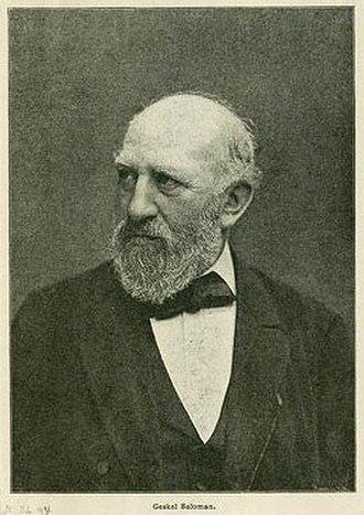 Geskel Saloman - Geskel Saloman, from the Royal Library, Copenhagen