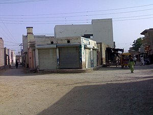 Dadu, Pakistan - Streetscape in Dadu