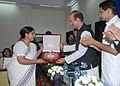 Ghulam Nabi Azad distributing awards at a function, organised by the Indian Red Cross Society to honour the voluntary blood donors and organisers, in New Delhi on June 21, 2012.jpg