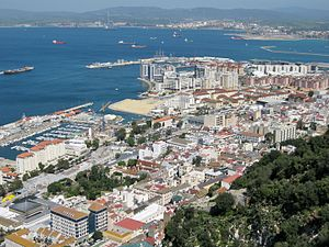 Westside, Gibraltar - Gibraltar's Westside as seen from The Rock.