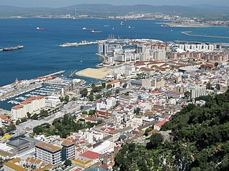 Westside, Gibraltar - Gibraltar's Westside as seen from The Rock.