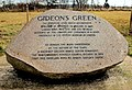 Gideon's Green memorial stone, Whitehouse - geograph.org.uk - 1755065.jpg