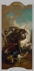 Giambattista Tiepolo: Death of Consul L. J. Brutus in a duel with Aruns