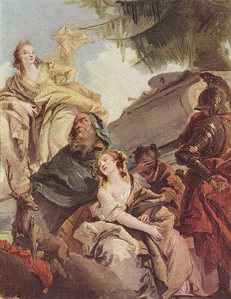 Iphigénie en Aulide - The Sacrifice of Iphigeneia by Tiepolo (Schloss Weimar)