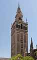 Giralda from orange trees courtyard Seville Spain.jpg