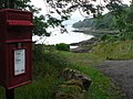 Glenborrodale, postbox No. PH36 88 and bay glimpse - geograph.org.uk - 921672.jpg