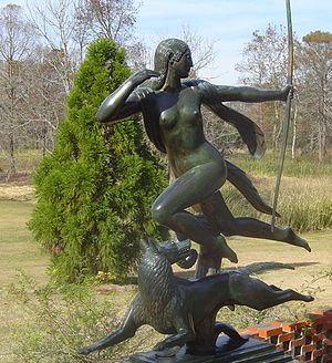 Brookgreen Gardens - Diana by Paul Manship