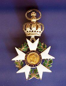 Ritterkreuz der Französischen Ehrenlegion, 1808 von Kaiser Napoleon an Goethe verliehen (Quelle: Wikimedia)
