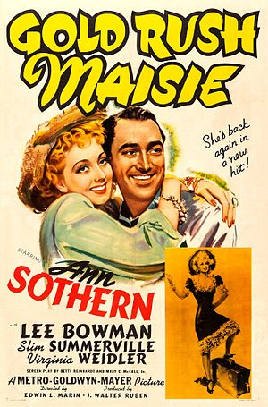 Gold Rush Maisie - Theatrical Film Poster