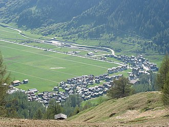 Obergoms - View of Oberwald in Obergoms