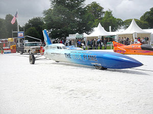 Blue Flame Race Car