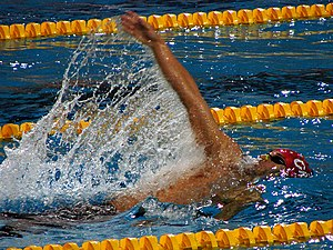 Gordan Kožulj from Croatia, swimming backstrok...
