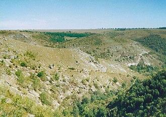 Lalova - Image: Gorge near Ţipova 01