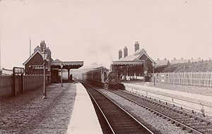Gorleston-on-Sea railway station - Image: Gorleston on Sea railway station (postcard)