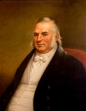 James Fenner - Official Rhode Island State House portrait by James Sullivan Lincoln