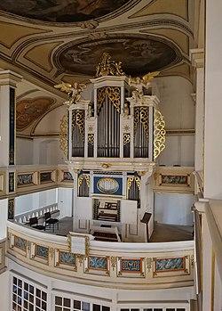 Gräfenhain (Ohrdruf), Dreifaltigkeitskirche, Orgel (02).jpg