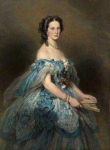 Großfürstin Alexandra Iosifowna, Gemälde von Franz Xaver Winterhalter (Quelle: Wikimedia)