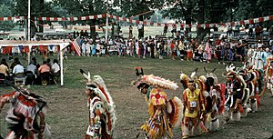 Pow wow - Grand Entry at the 1983 Omaha Pow-wow