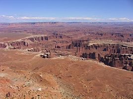 Des Colorado-Plateau im Canyonlands-Nationalpark