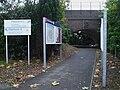 Grange Park stn access to southbound platform.JPG
