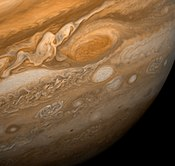 The Great Red Spot as seen from Voyager 1.