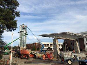 Greater Atlanta Christian School - New Stage Center and Cross Tower near completion
