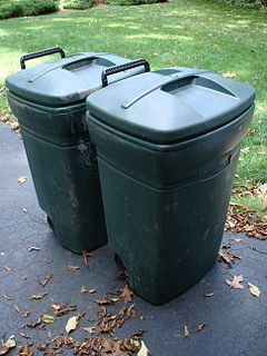 Green Trash Bins